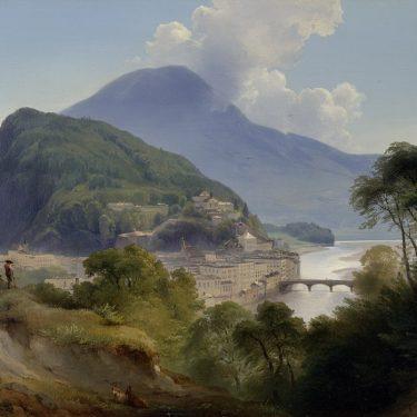 Veranstaltung Online Kunstgenuss:Johann Fischbach, Salzburger Ansicht mit Kapuzinerberg im DomQuartier Salzburg