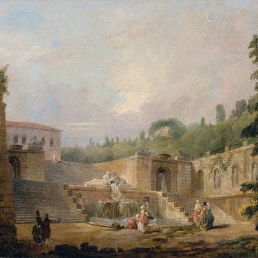 Veranstaltung Online Kunstgenuss:Hubert Robert, Brunnen auf einer Schlossterrasse im DomQuartier Salzburg
