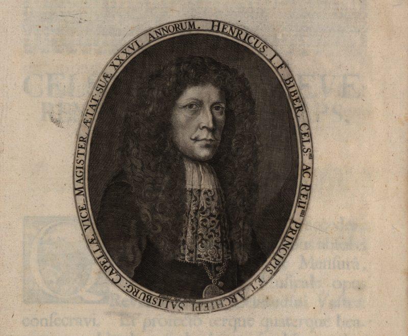 Porträt des Musikers und Komponisten Heinrich Ignaz Franz Bibers