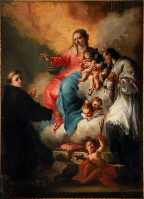 Madonna mit Jesuskind und hll. Antonius von Padua und Johannes Nepomuk