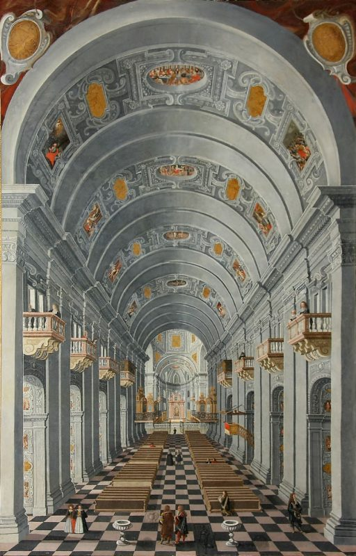 Innenansicht des Salzburger Doms, Anfang 1654 (?), Öl auf Leinwand, Salzburg, Erzabtei St. Peter, Kunstsammlungen